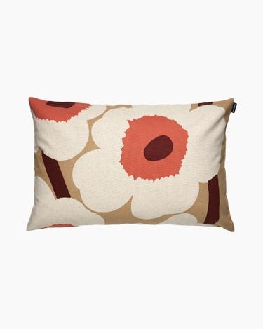 marimekko Unikko cushion cover 40x60cm beige, cotton, orange
