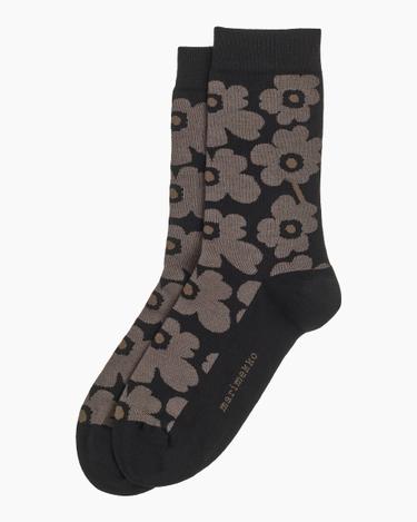 marimekko Hieta Unikko socks black, brown