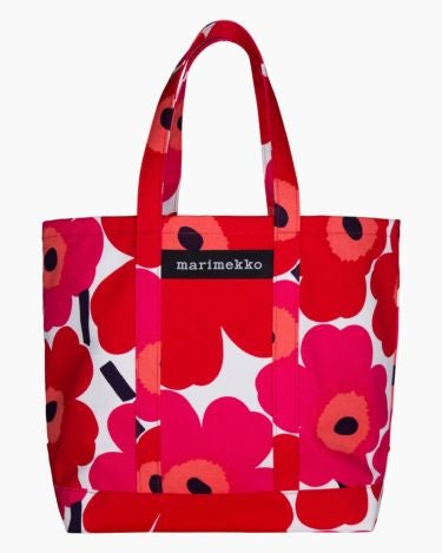 marimekko Peruskassi Pieni Unikko bag red, white