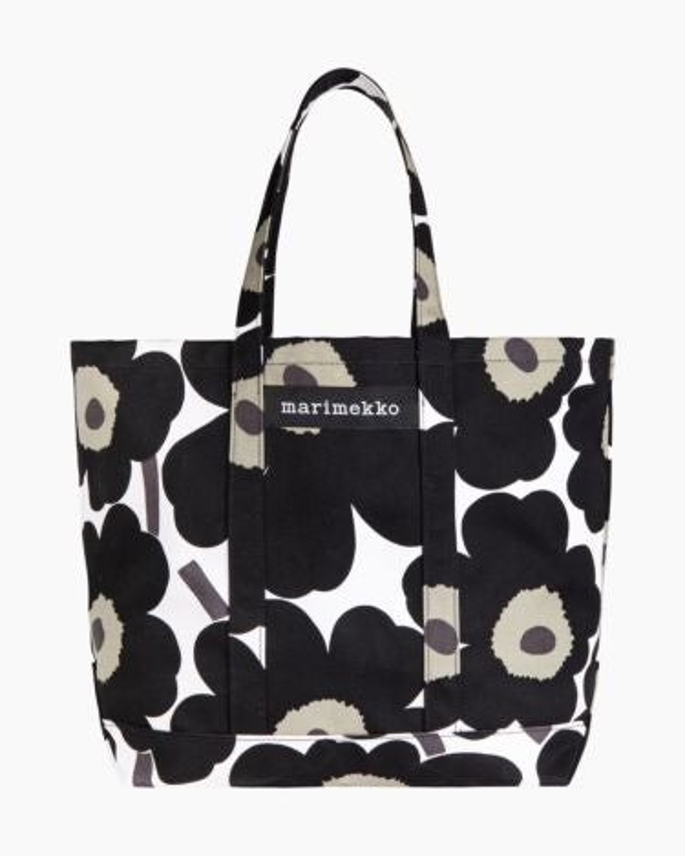 marimekko Peruskassi Pieni Unikko bag black, white