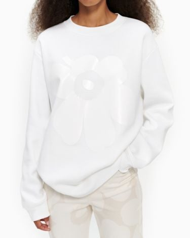 marimekko Lohkare Unikko unisex sweatshirt white