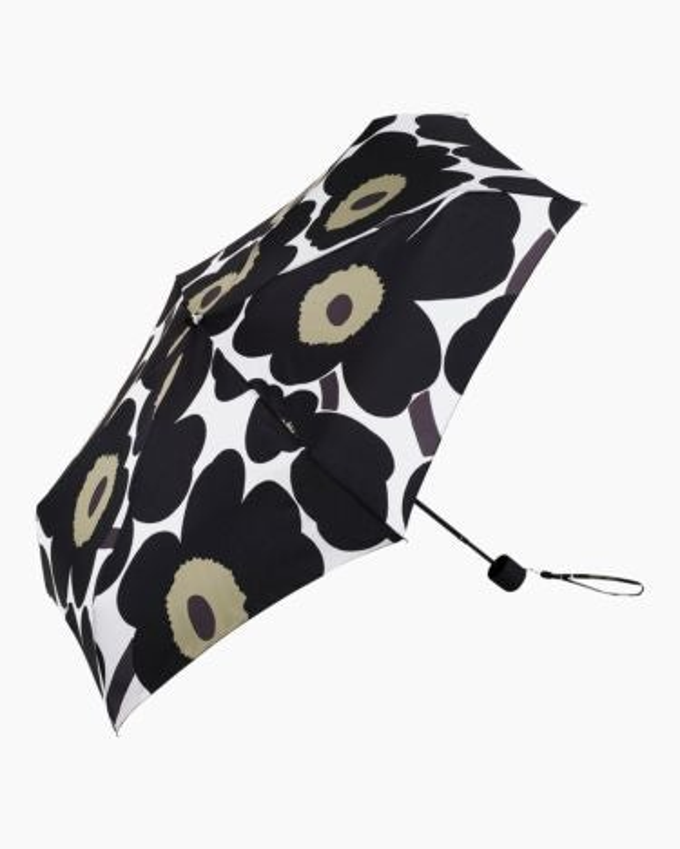 marimekko Unikko Mini Manual  umbrella black, olive, white