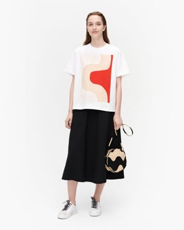 marimekko Vaikutus Seireeni t-shirt beige, red, white
