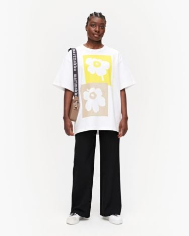 marimekko Ohje Unikko t-shirt beige, off white, yellow