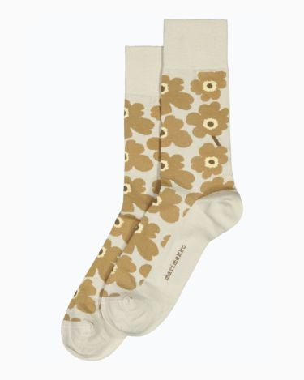 marimekko Kohina Unikko socks beige, light grey