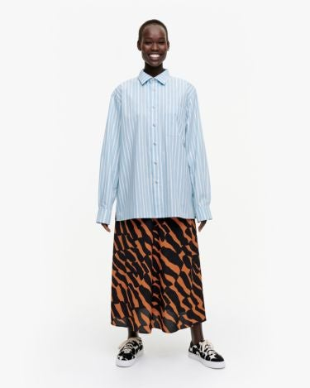 marimekko Jokapoika shirt light blue, off-white