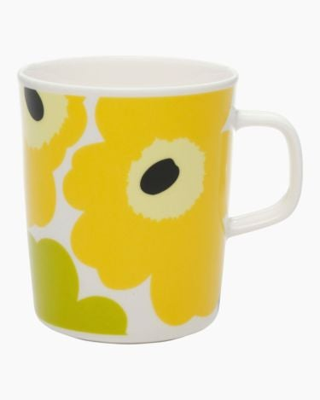 marimekko Oiva / Unikko  mug 2,5dl lime, white