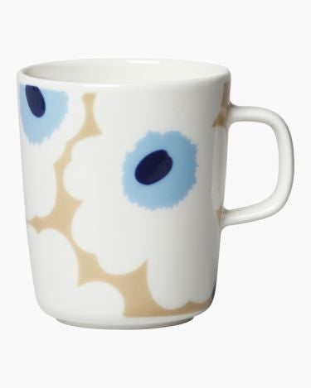 marimekko Oiva / Unikko  mug 2,5dl beige, blue, off white