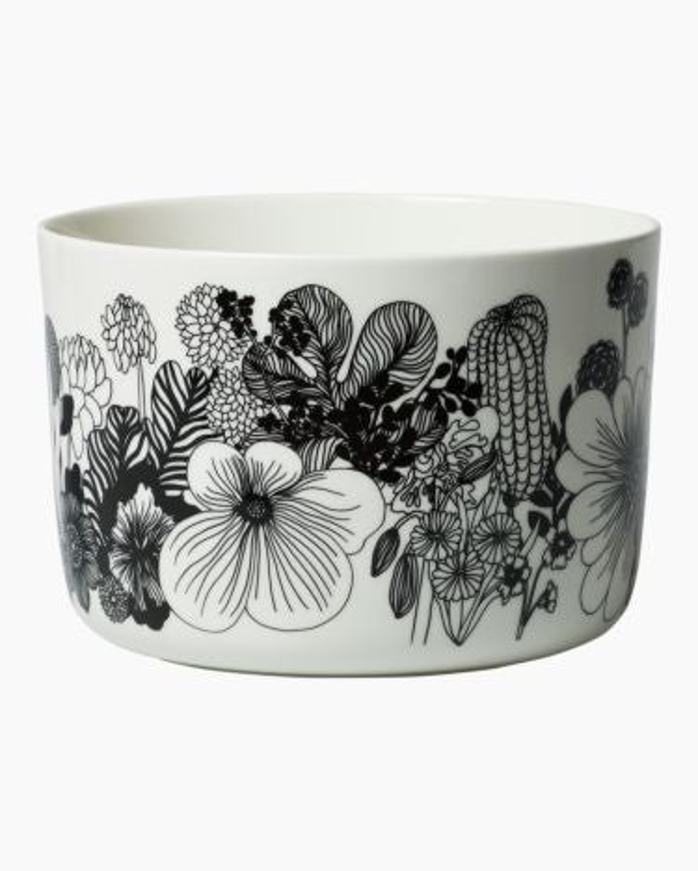 marimekko Siirtolapuutarha  serving bowl black, white