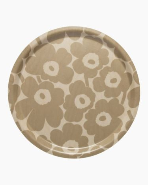 marimekko Mini Unikko  plywood tray beige, light brown