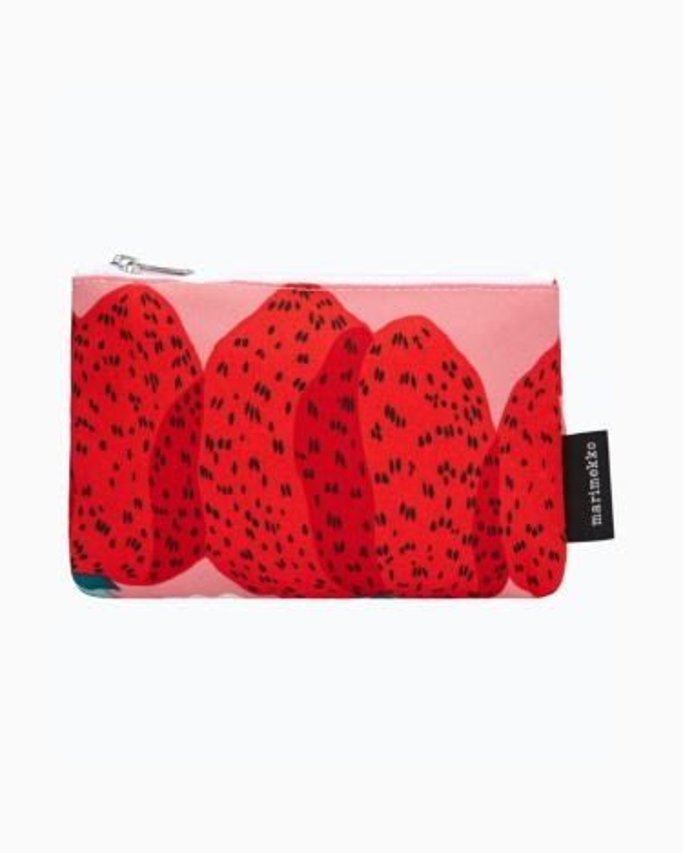 marimekko Kaika Mansikkavuoret pouch pink, red