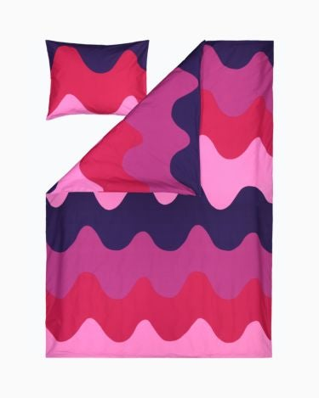 marimekko Lokki  duvet cover set DC 150x210 cm + PC 50x60 cm fuchsia, pink, red
