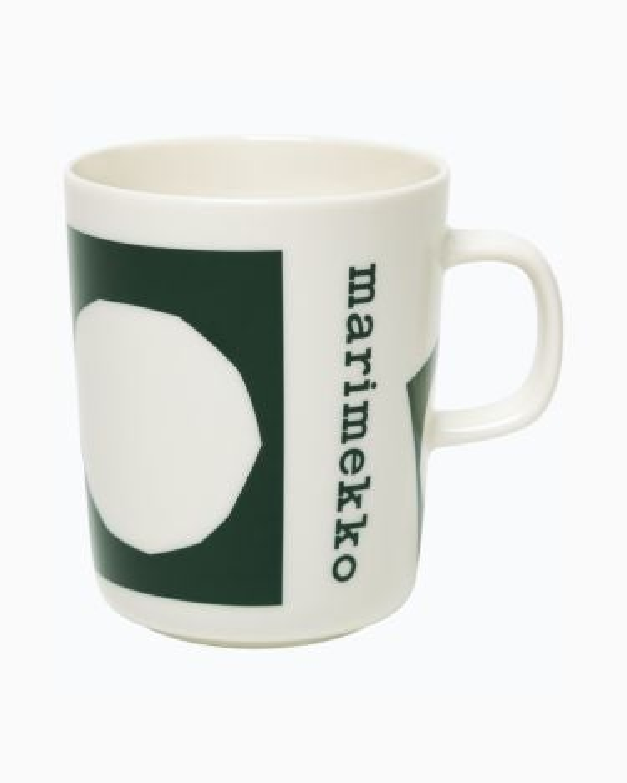 marimekko Oiva / Marimekko Co-created mug 2,5dl dark green, white