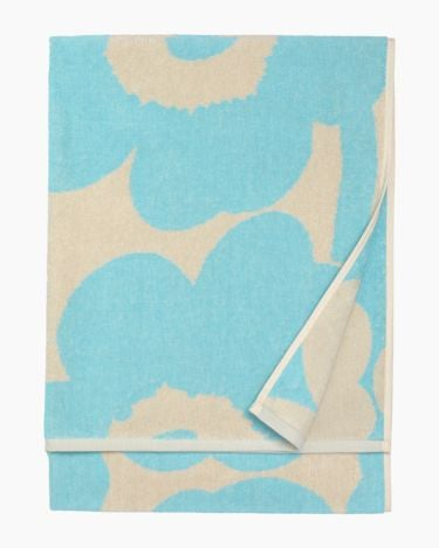 marimekko Unikko bath towel 70x150cm light blue, off-white
