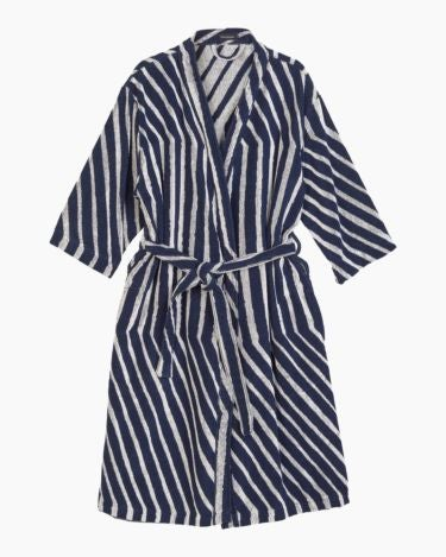 marimekko Kalasääski bathrobe dark blue, off-white