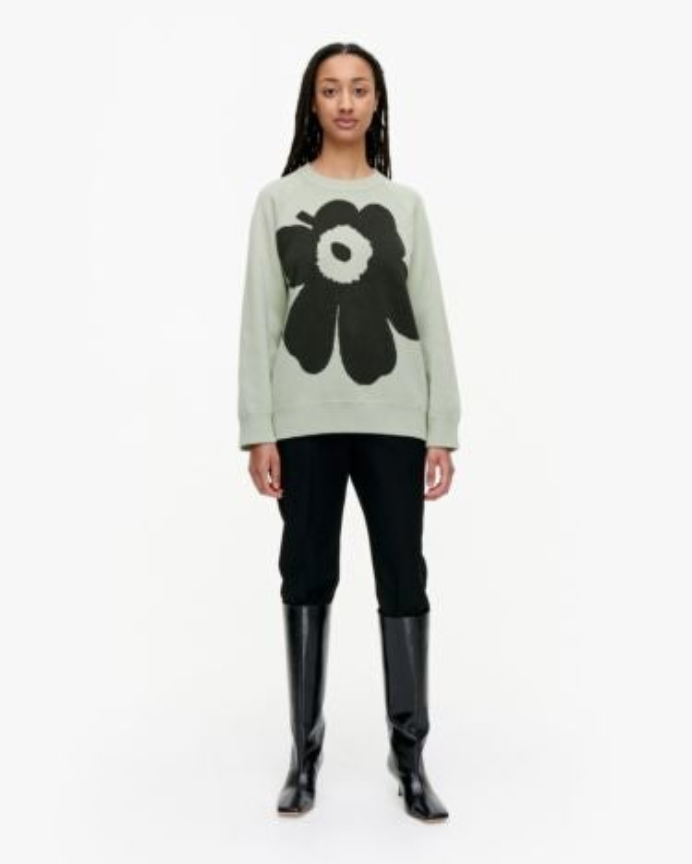 marimekko Lohdukas Unikko knitted pullover dark green, light green