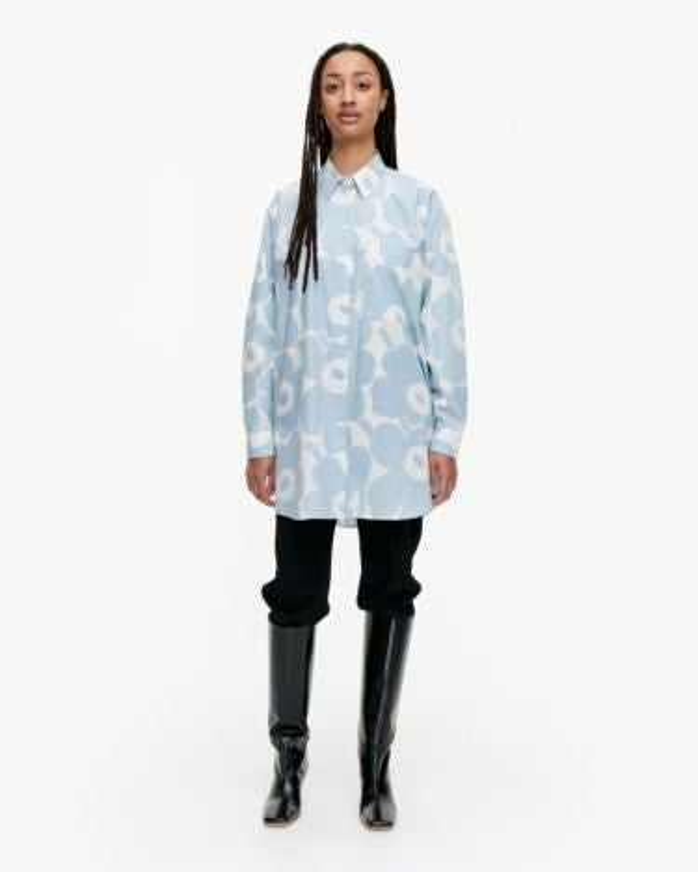 marimekko Norkko Pieni Unikko 2 shirt light blue, off-white