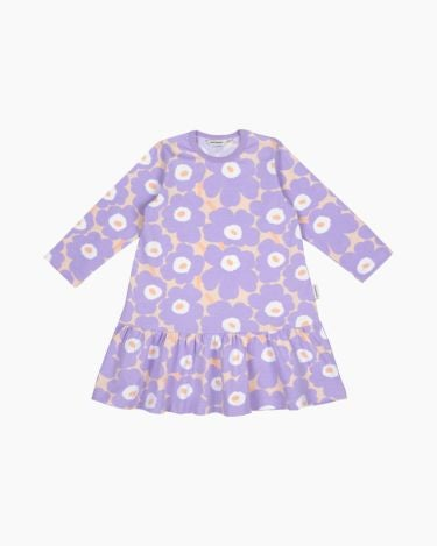 marimekko Kultarinta Mini Unikot dress lavender, light yellowish