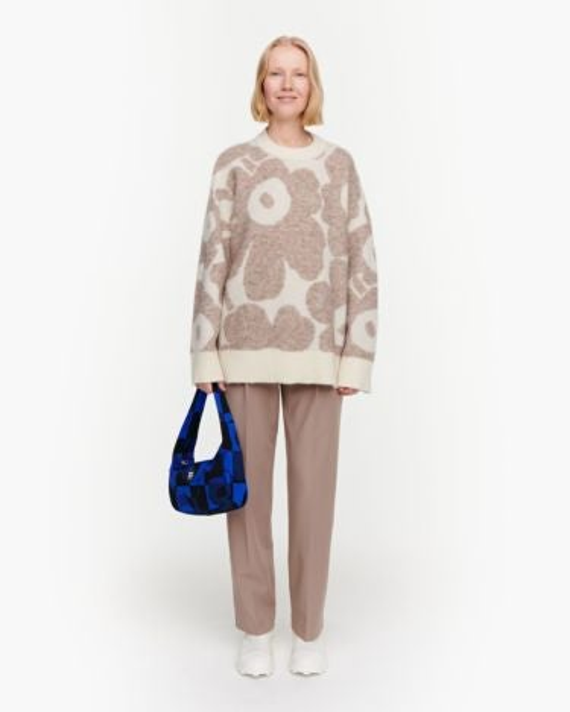 marimekko Polkujen Unikko knitted pullover beige, off white