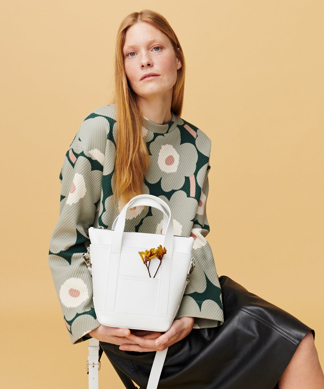 Marimekko white Milli Matkuri bag