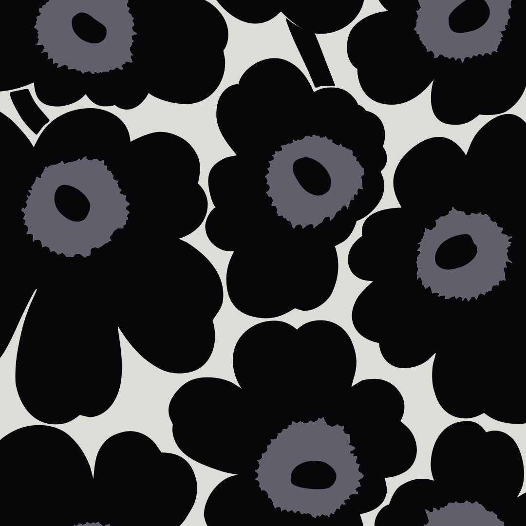 Mobile wallpaper Unikko black
