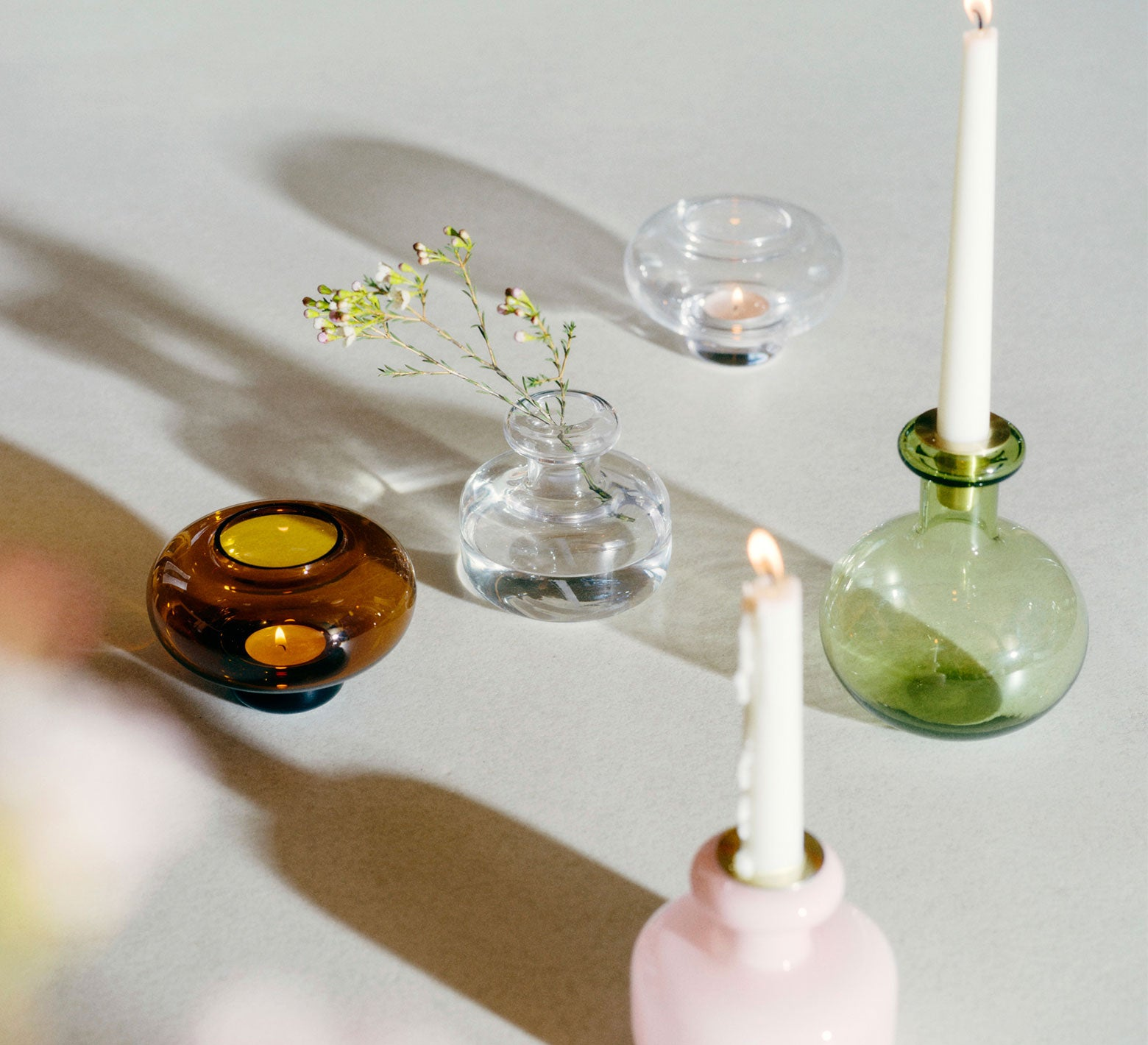 Marimekko vases and candle holders