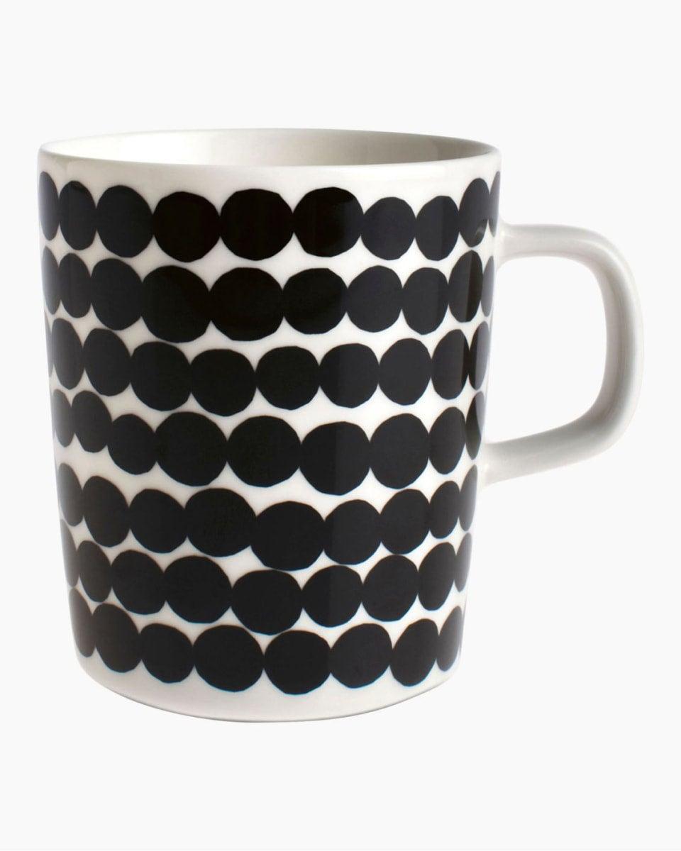 Marimekko Oiva mug with Räsymatto (rag rug) pattern
